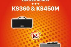 So Sánh Loa Kéo Mini KS360 Với Loa Kéo Acnos KS450M