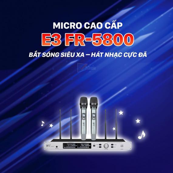 Micro Không Dây E3 FR-5800 - Micro Karaoke Bắt Sóng Xa Trên 100m