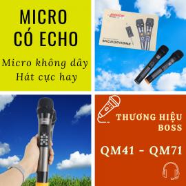 Dòng Micro Có Echo - BOSS QM41 - BOSS QM71
