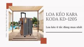 Loa Kẹo Kéo Giá Rẻ Koda KD-1205 - Loa Kéo Karaoke 4 Tấc Đáng Mua Nhất